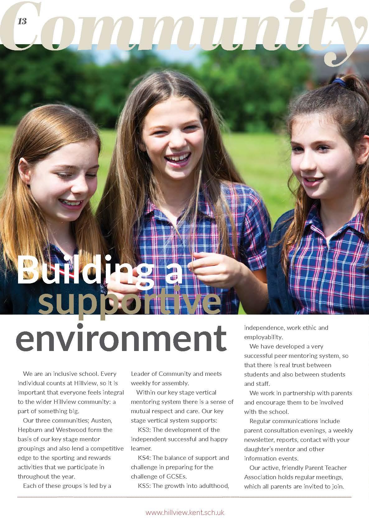 Prospectus 2019/20 | Hillview School Tonbridge Kent UK